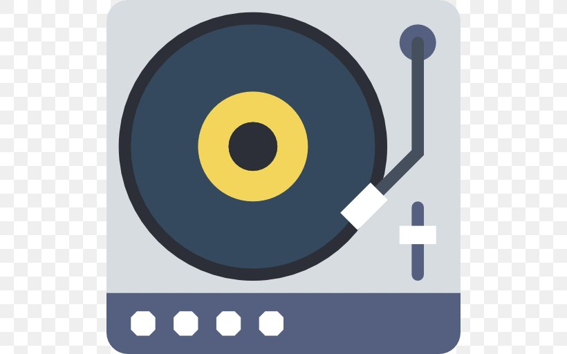 Digital Audio Phonograph Record Compact Disc Icon, PNG.
