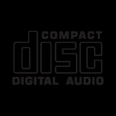 Compact Disc CD logo vector.