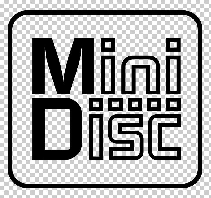MiniDisc Compact Disc Logo PNG, Clipart, Area, Black, Black.