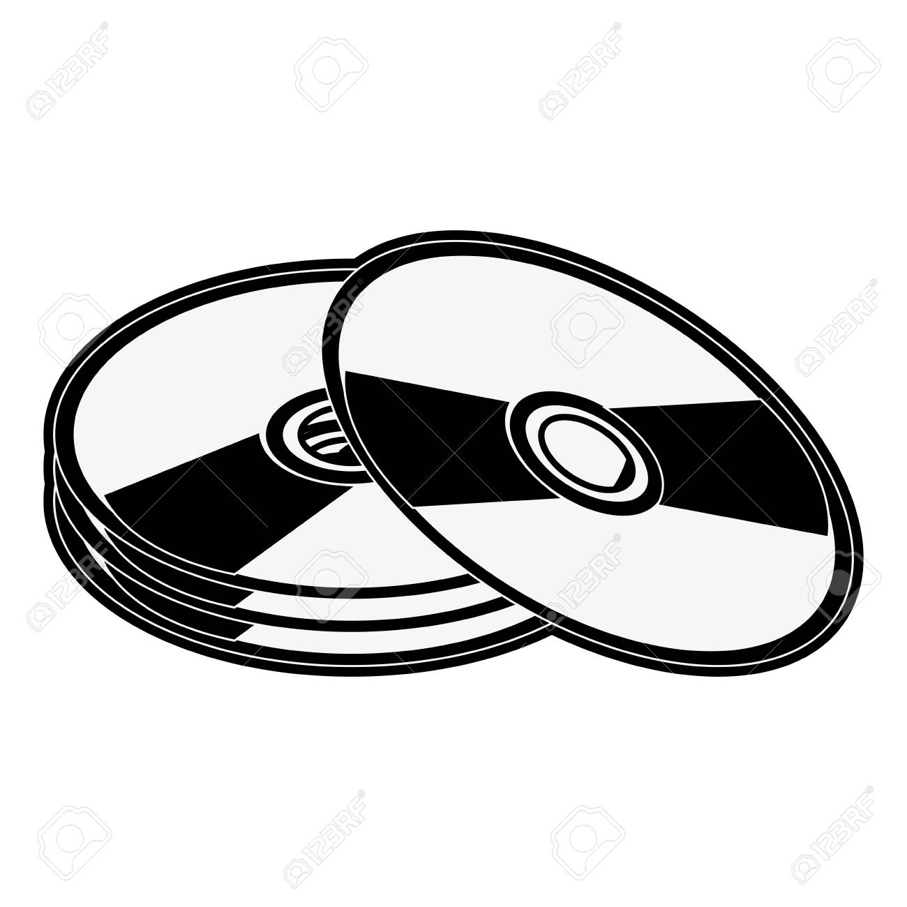 cd compact disk icon image vector illustration design black...