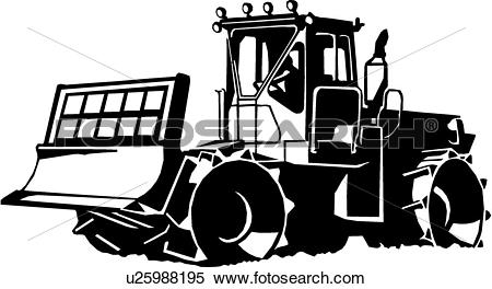 Clipart of , heavy equipment, compactor, construction, trade.