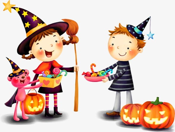 Halloween companionship PNG clipart.