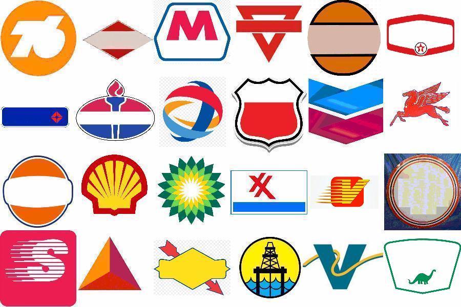 gasoline companies logos.
