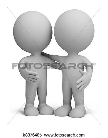 Stock Illustration of 3d person companions k8667625.