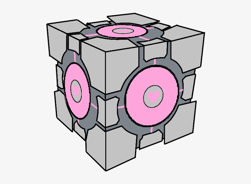 Clip Art Aperture Science Weighted Companion Cube Portal.