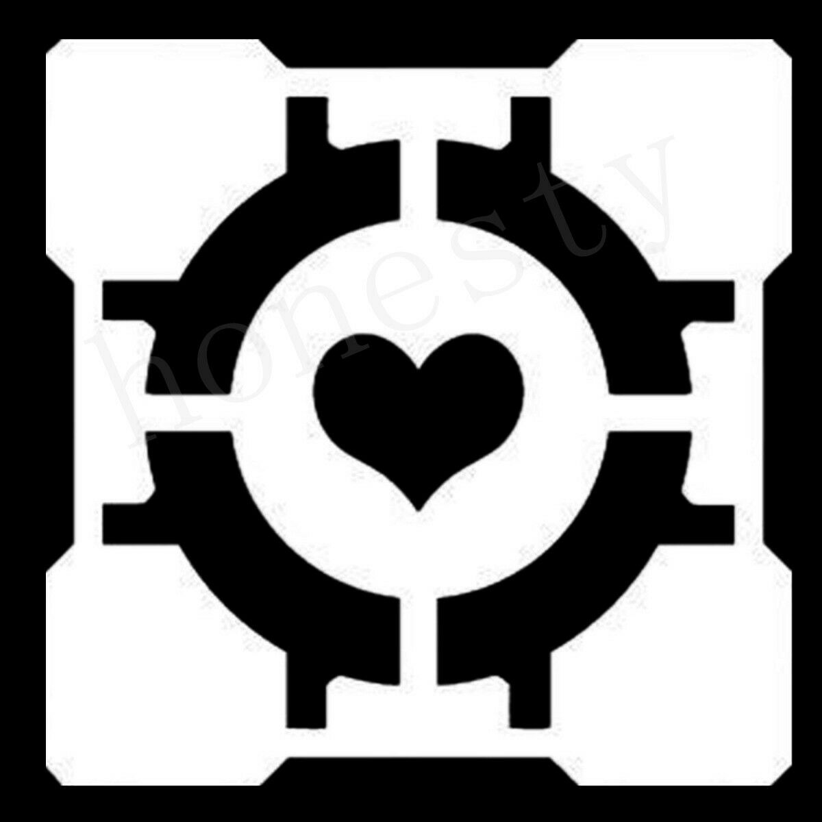 Details about Companion Cube Portal Half Life Gamer Window Auto Car Door  Decals Stickers.