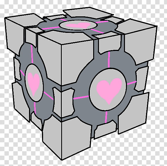 Aperture Science Weighted Companion Cube Portal transparent.
