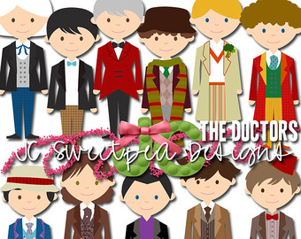 Doctor Who Reboot Companions Clip Art Commercial or Personal Use.
