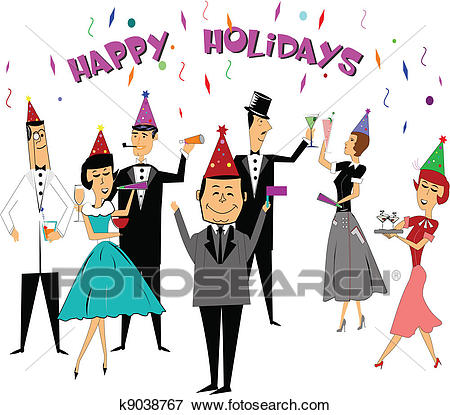 Holiday Work Party Clipart.