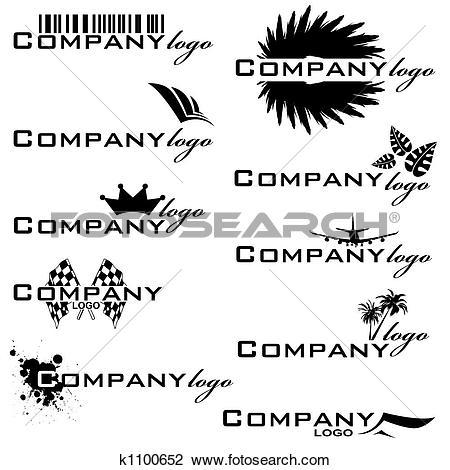 Clip Art of company logo k1100652.