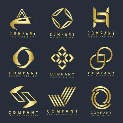 Set of company logo design ideas vector.