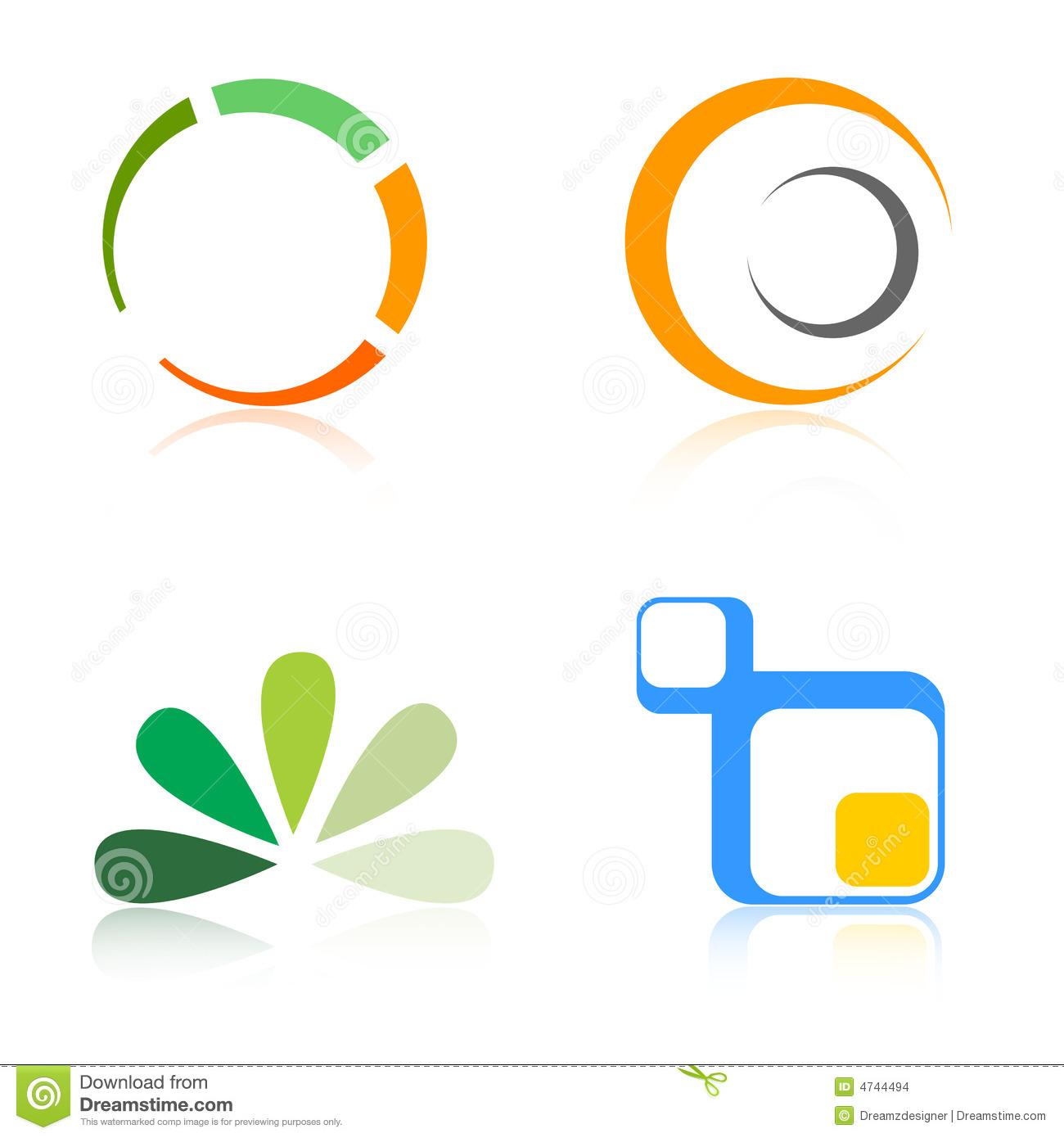 Company Logos / Logo Elements Stock Vector.