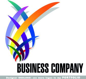 Company business logos creative design Free vector in.