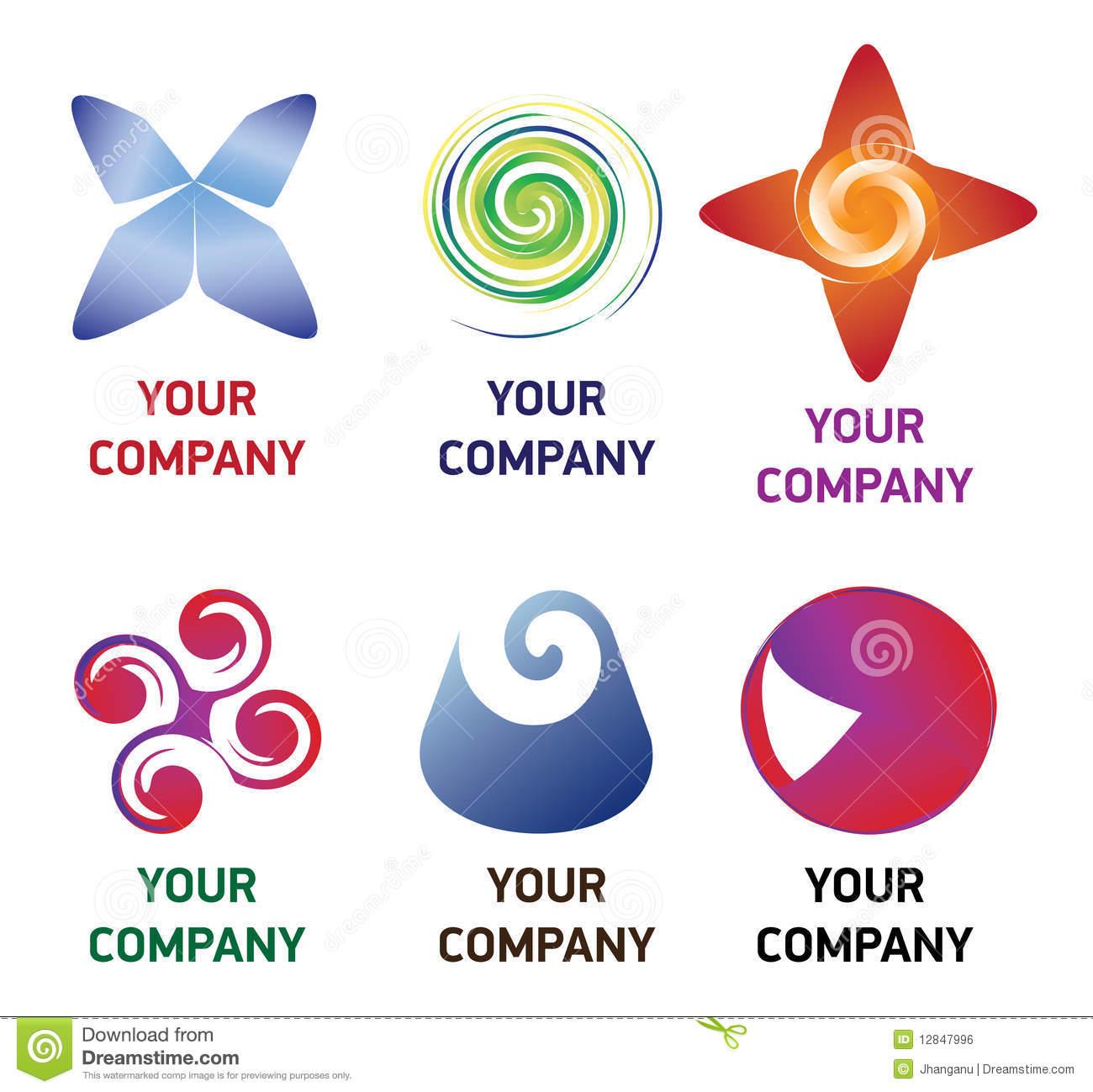 Premium company logo stock vector. Illustration of blue.