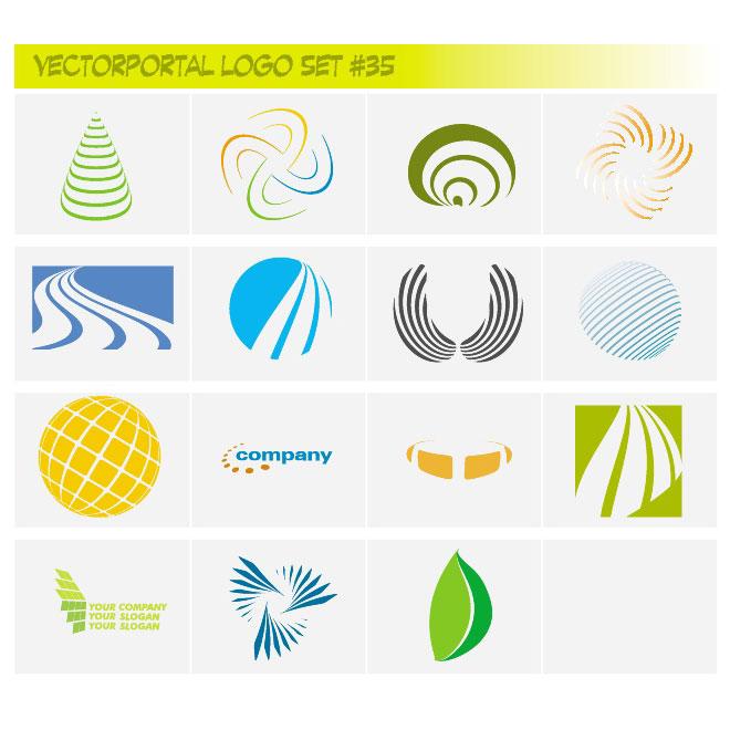 Colorful company logo set.