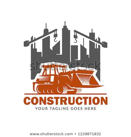 Construction logo template, suitable for construction.