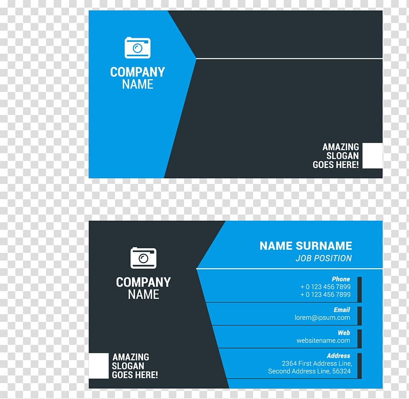 Business card format illustration, Business card Surname.