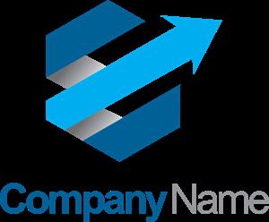 Polygon arrow 3D company Logo Vector (.EPS) Free Download.
