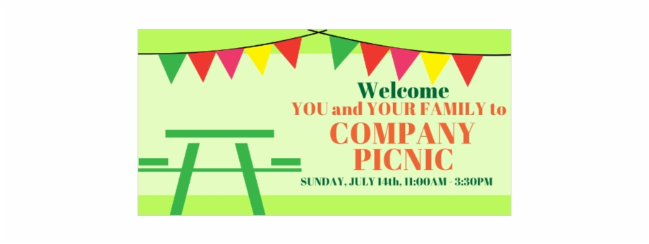 Welcome To The Company Picnic Vinyl Banner.