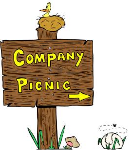 Company Picnic Invitations.