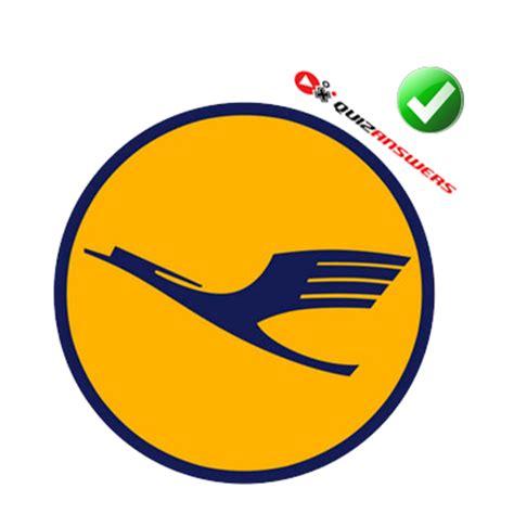 Yellow flying bird Logos.