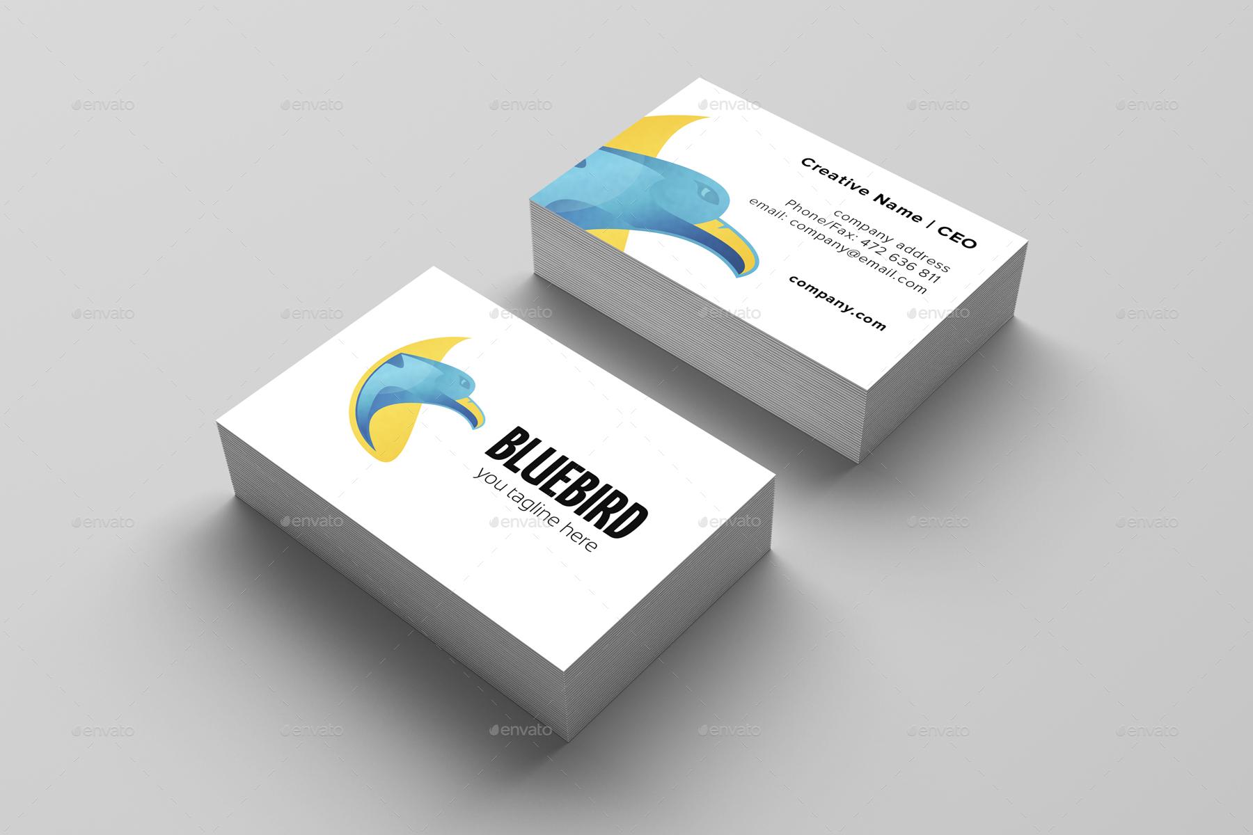 Blue Bird Logo Template.