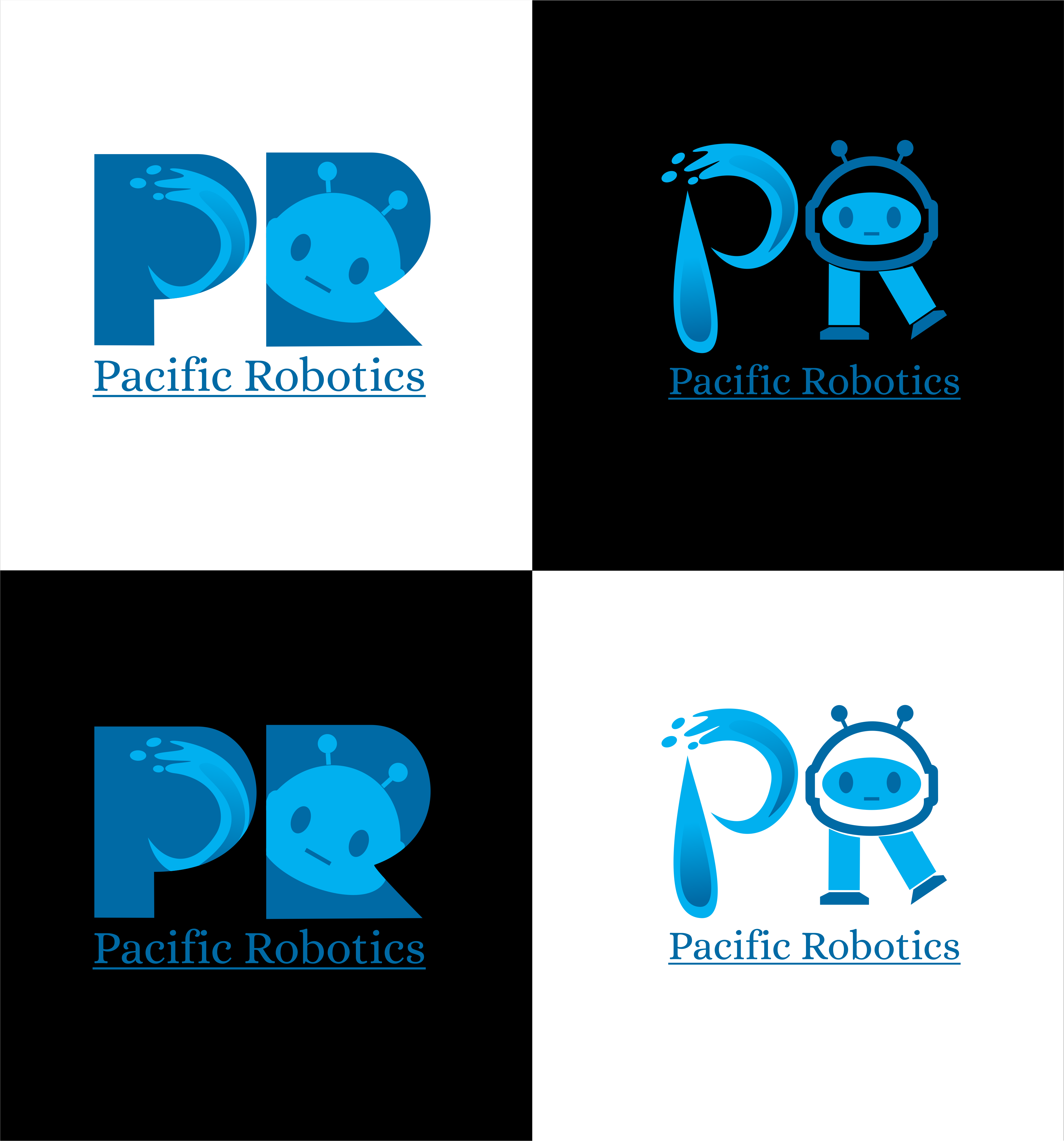 Bold, Serious Logo Design for Pacific Robotics by Blue.