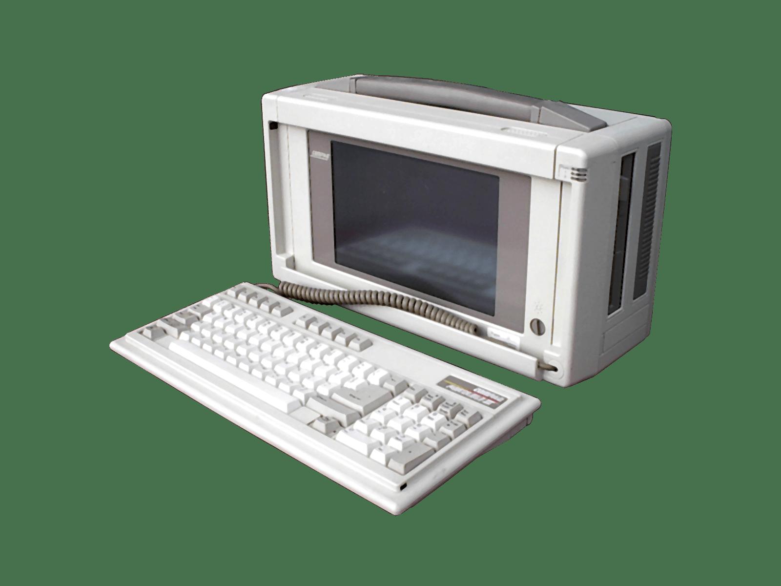 Compaq Vintage Computer transparent PNG.