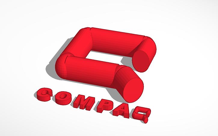 3D design compaq logo.