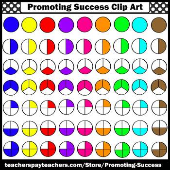 Comparing Fractions Clip Art, Color and Black & White, SPS.
