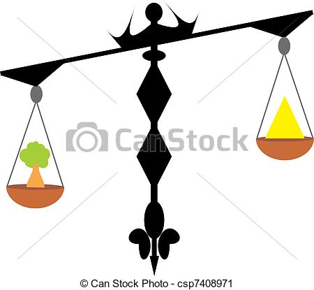 Vector Clip Art of Exact scales. Important comparison csp7408971.