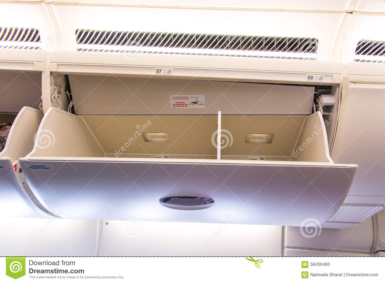 Luggage plane clipart overhead.
