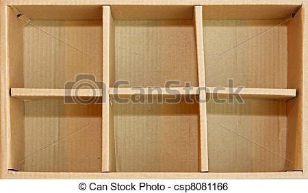 Stock Image of Box compartments.