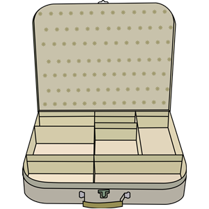 suitcase with compartment clipart, cliparts of suitcase with.