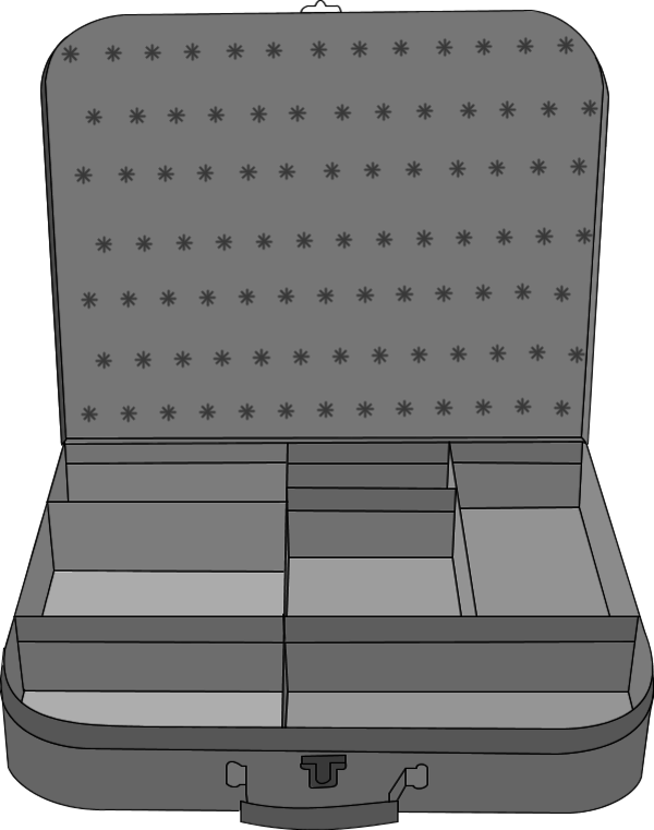 suitcase with compartment 3.