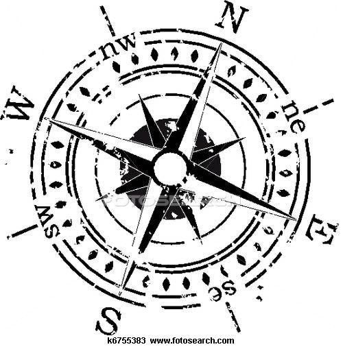 Compass Clip Art and Illustration. 3683 compass clipart vector EPS.