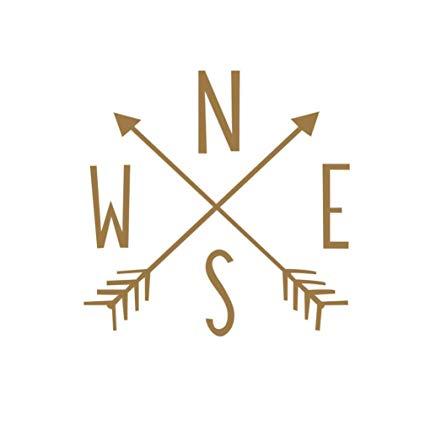 Amazon.com: Kintaz Crossed Arrows Compass Rose Wall Decals Arrow.