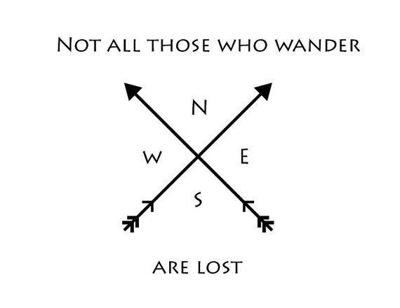 Compass Coordinates Arrows.