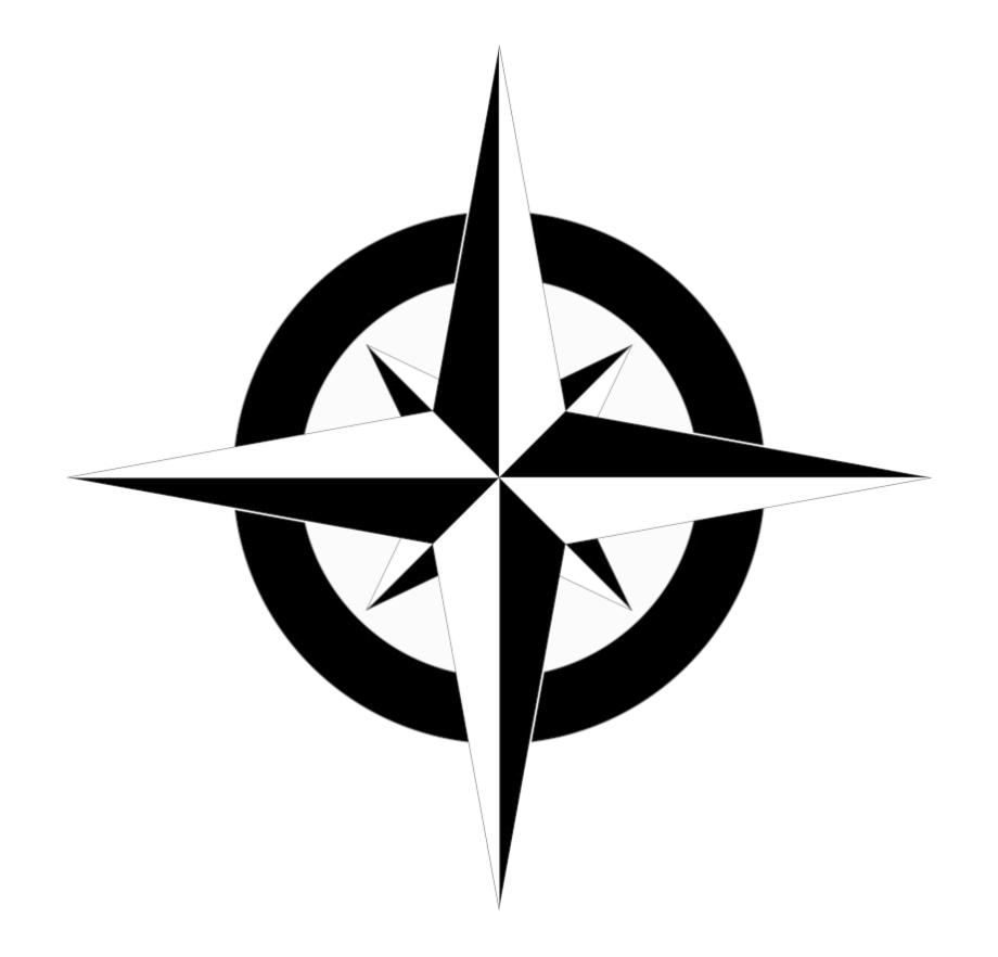 Compass Clipart North Arrow Simple Map Vector Transparent.