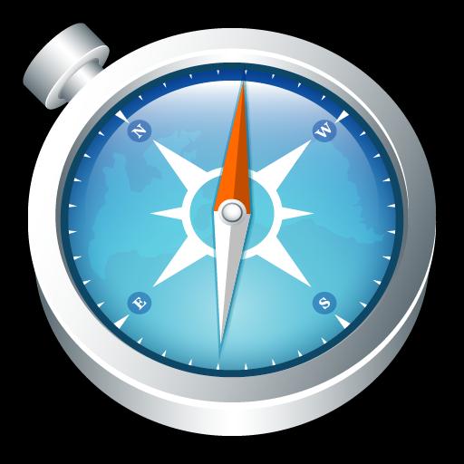 Safari Compass Icon, PNG ClipArt Image.
