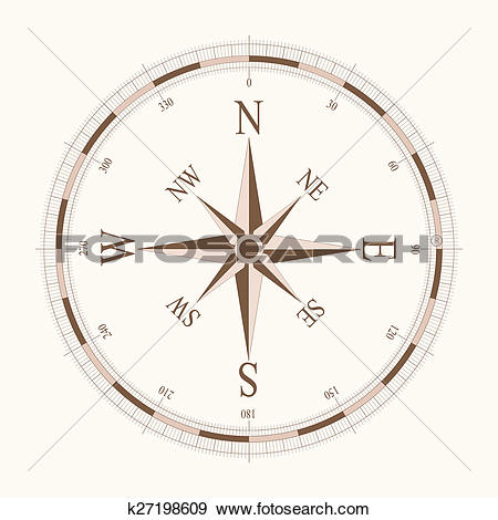 Stock Illustration of compass card k27198609.