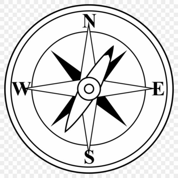 Compass Clipart Black And White Compass Free Clip Art.