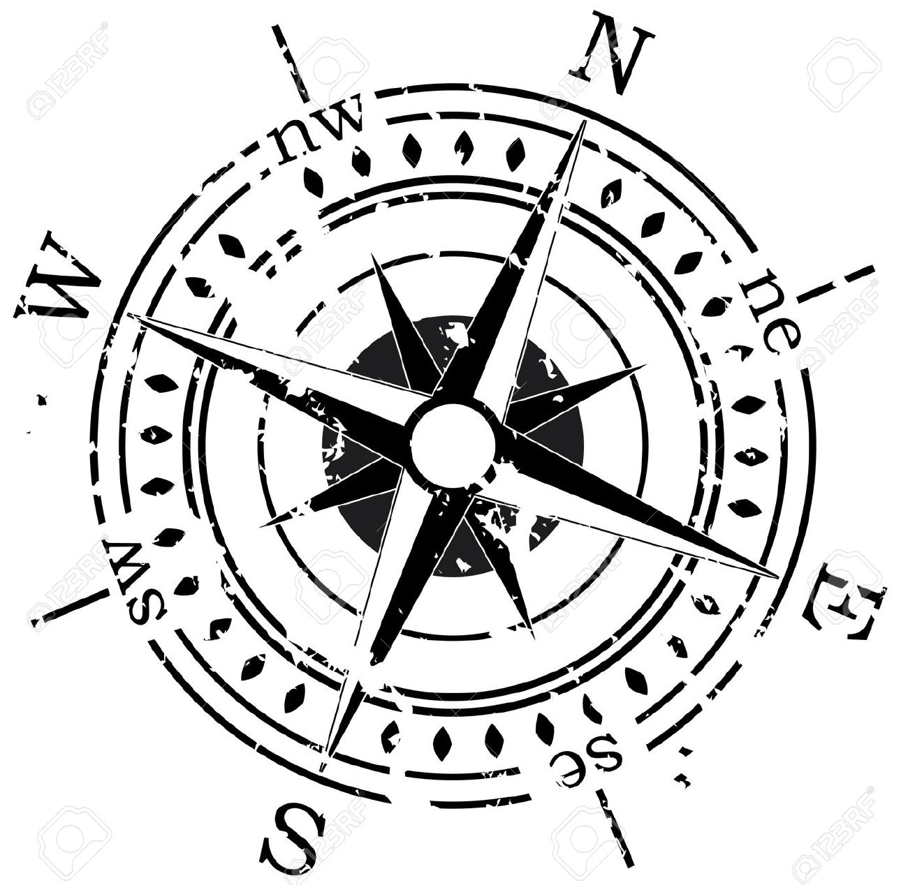 Clipart compass star.