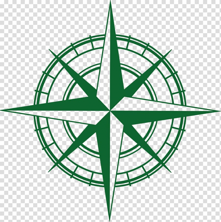 Compass rose North Arrow , 建筑logo transparent background.