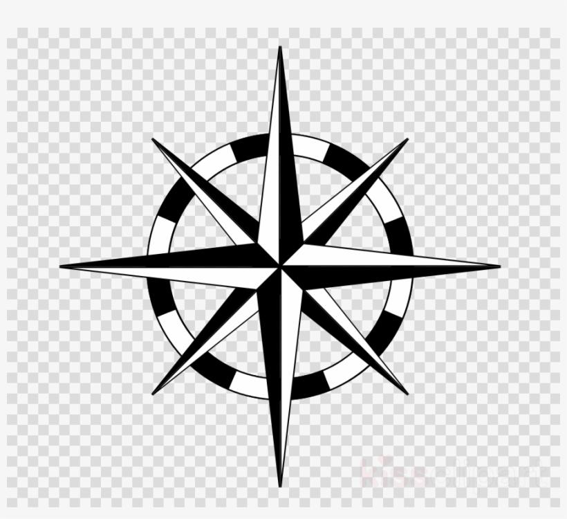 Nautical Star Compass Clipart Nautical Star Compass Transparent PNG.