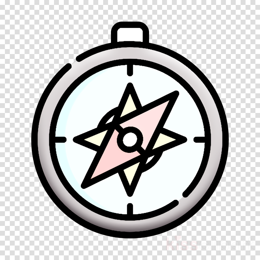 Compass icon Tropical icon clipart.