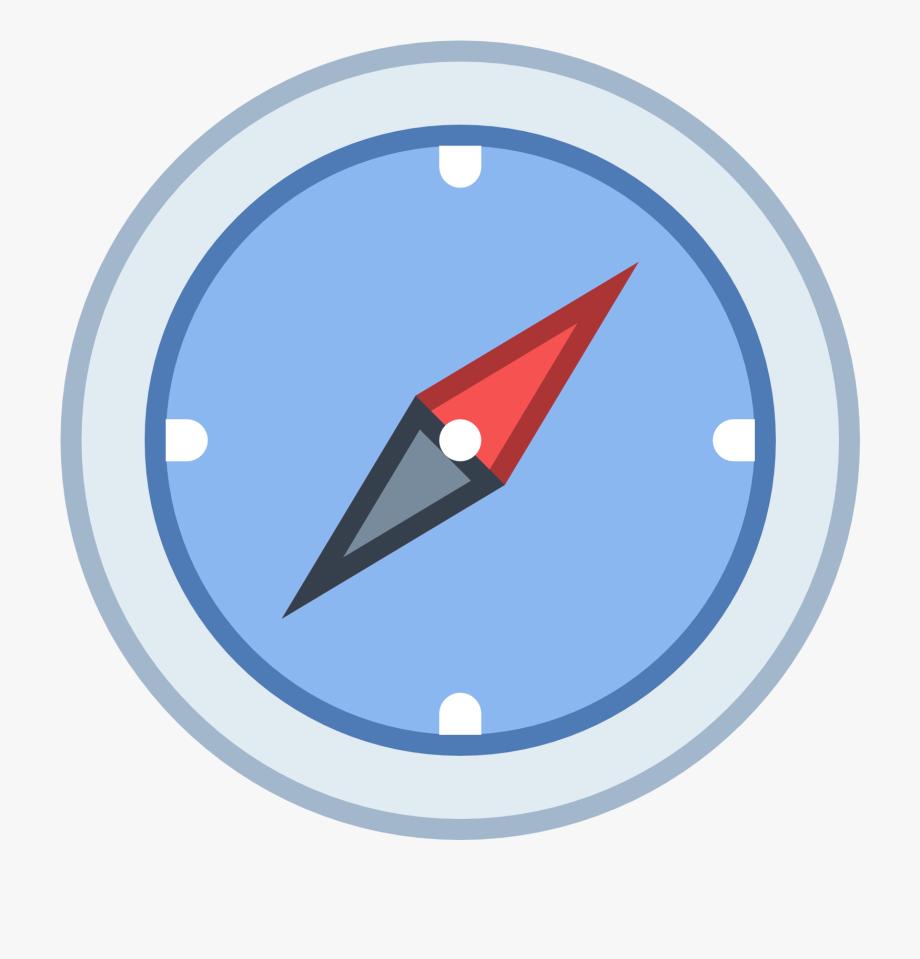Compass Clipart Icon.