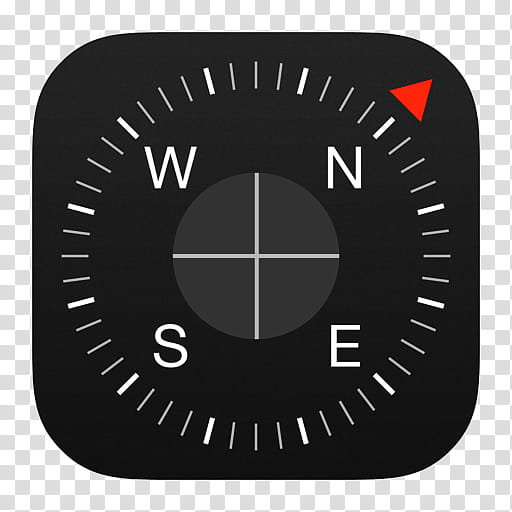 IOS Icons Updated , Compass, black compass icon with north.