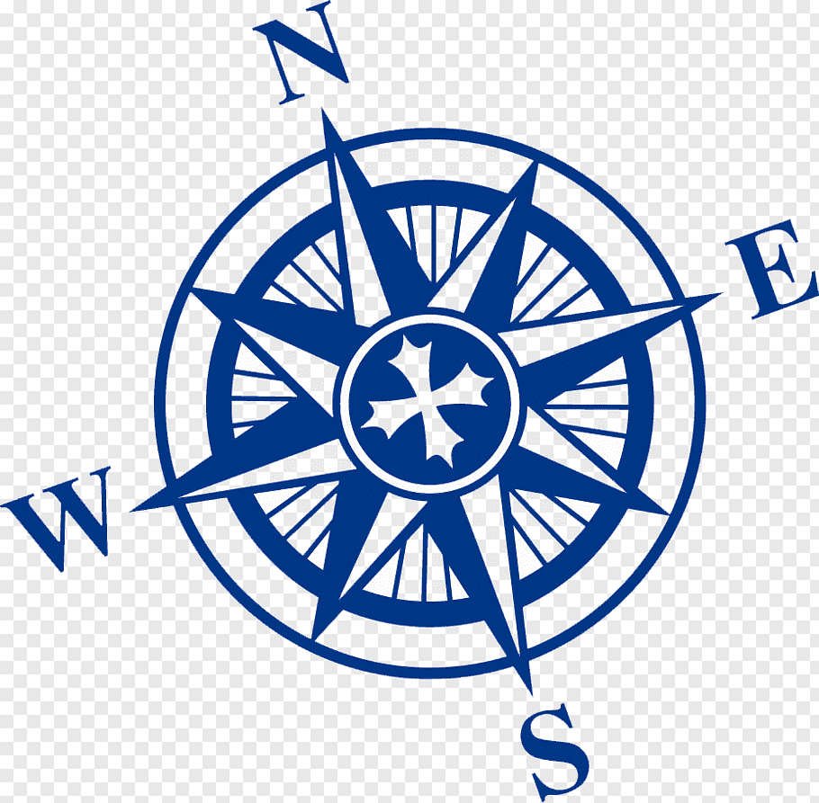 Blue compass, Compass rose North, Nautical s free png.