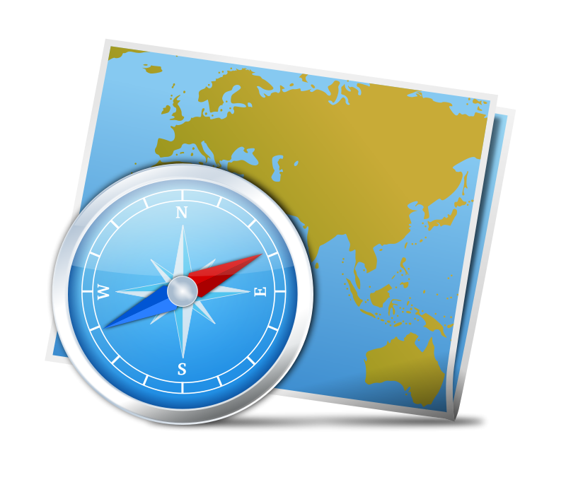 Compass And Map Clipart.